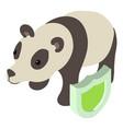 panda icon isometric style vector image