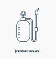 pressure sprayer outline icon garden sprayer vector image