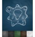 bacterium icon vector image