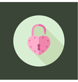 heart padlock open in circle icon flat design vector image