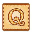 letter q candies vector image