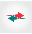 arrows logo template vector image