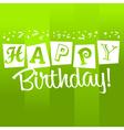 Green Birthday Greeting Card vector image