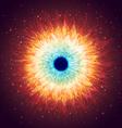 Shining Galaxy with Stars vector image