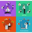 Office Syndrome 2x2 Design Concept vector image