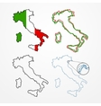 Italy silhouette set vector image
