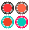 Paper Retro Circle Empty Labels Set Isolated on vector image vector image