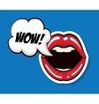 Female mouth icon Pop art design graphic vector image