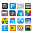 apps icon set three vector image vector image