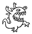 angry dino cute cartoon character vector image
