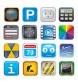 apps icon set three vector image