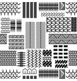 black and white mayan embroidery seamless vector image