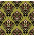 ethnic damask seamless pattern background vector image
