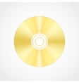 Gold blank compact disc vector image