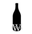Last drop of wine- Logo concept for wine business vector image