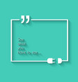 Quotation Mark Frame with Flat style and space for vector image