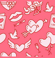 valentines day seamless pattern love romance vector image