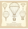Hot air balloons vintage poster design vector image vector image