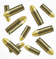 realistic bullet pattern background vector image
