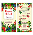 Price menu for berries and garden fruits vector image