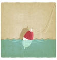 bobber fishing old background vector image
