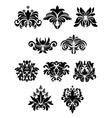 Floral design elements set vector image vector image