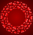 round hearts frame vector image