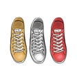 Summer trendy sports shoes The collection of vector image