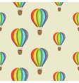 Background with color air balloon vector image