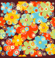 childish floral background vector image