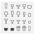 glass and cup icon vector image