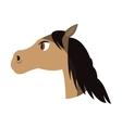 horse cartoon icon vector image