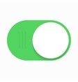 modern green slider button on white vector image
