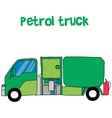 Petrol truck cartoon for kids vector image
