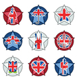 uk badges vector image