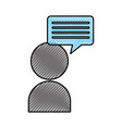 user with speech bubble message icon vector image