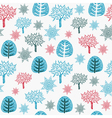 Vintage seamless pattern with trees vector image vector image