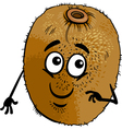 funny kiwi fruit cartoon vector image vector image