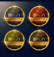 best quality guaranteed premium gold label and vector image