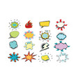set colored comic bubbles vector image