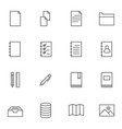documents icon sets line icons vector image