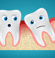 Two tooth and gum hurt vector image