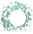 Spring frame with white snowdrops vector image vector image
