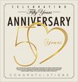 50 years Anniversary background vector image