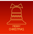 christmas outline 3 vector image vector image
