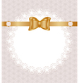 lace napkin vector image vector image