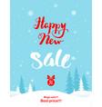 big winter holiday sale vector image