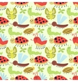 Cute insects seamless pattern vector image