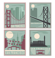 old style vintage retro posters with San Francisco vector image