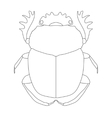 scarab Geotrupidae dor-beetle Sketch of dor vector image